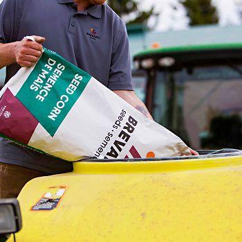 Brevant bag of corn seed