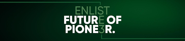 Enlist - hero banner - future of Pioneer
