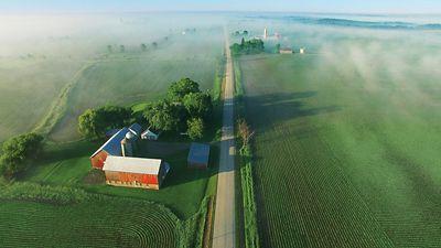 Photos - aerial view - farming operation