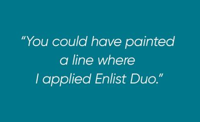 Painted line quote card for Enlist