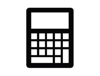 Black calculator icon