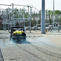 Image showing tank spraying at an electric power station