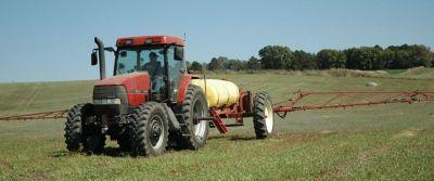 A pasture herbicide application