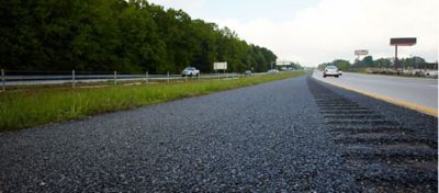 ground view of a highway roadside