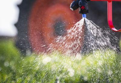 close up of sprayer nozzle