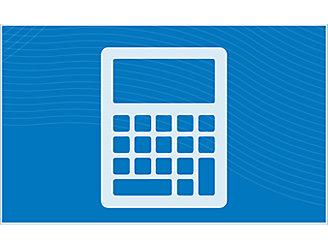 blue calculator icon