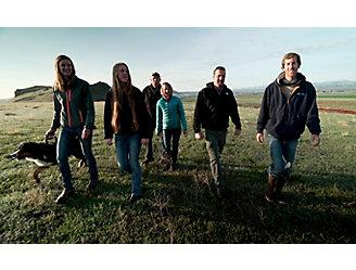 Kasper family walking outside