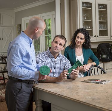 Homeowners with Pest Professional