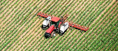 Tractor aerial view