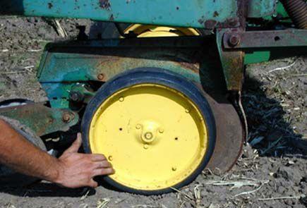 Photo - Gauge wheel spun by hand