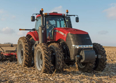 Photo showing a  Case IH Magnum 7130 tractor, commonly used 1987-1993, weighing 17,540 lbs.