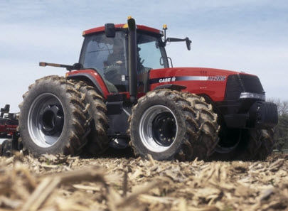 Photo showing a  Case IH Magnum MX285 tractor, commonly used 2003-2006, weighing 21,630 lbs.