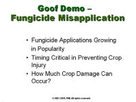 Goof Demo - Fungicide Misapplication