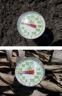 Soil temperature gauges