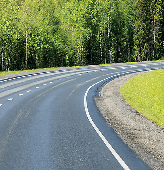 Image of very clear roads