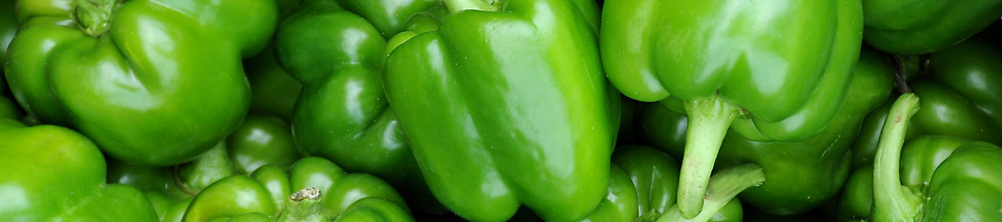 Image of a group of green peppers