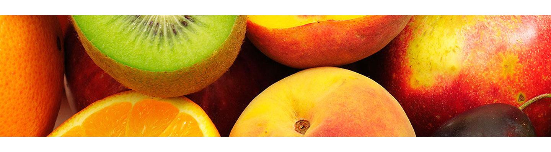 Frutas e vegetais coloridos