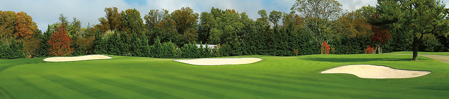 Image of golf course with sand traps