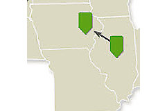 Map for Day 3, Eastern Route, Midwest Crop Tour