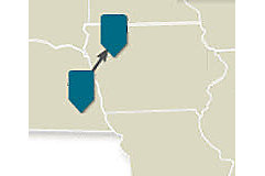 Map - Western Route - Day 3 - Midwest Crop Tour