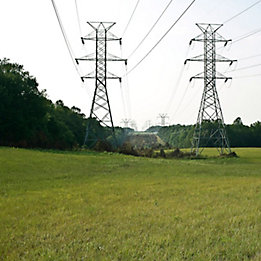 Image of power lines in a right of way