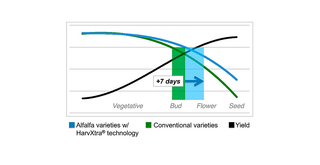 HarvXtra® Yield Quality Tradeoff Graph