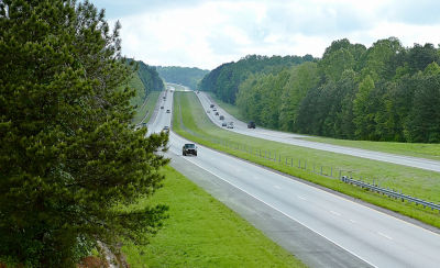 Image of highway with cars