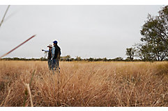 Ranchers surveying land.