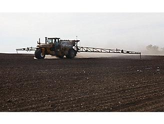 Spraying bare field