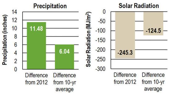 Charts: Precipitation and Solar Radiation