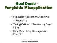 Goof Demo - Fungicide Misapplication